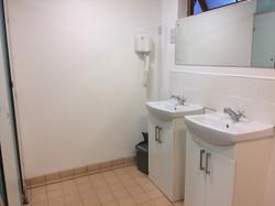 Shower blocks with sinks