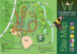 Waterrow Touring park site map