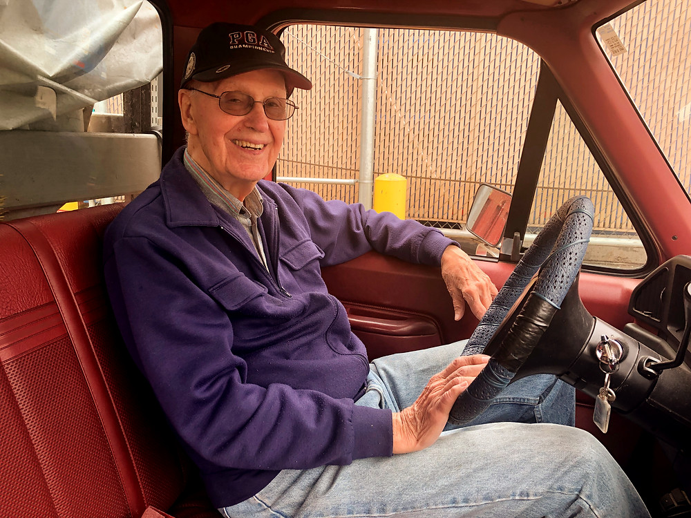 Deacon Don Borkowski on his last day working at Father Gene's Help Center
