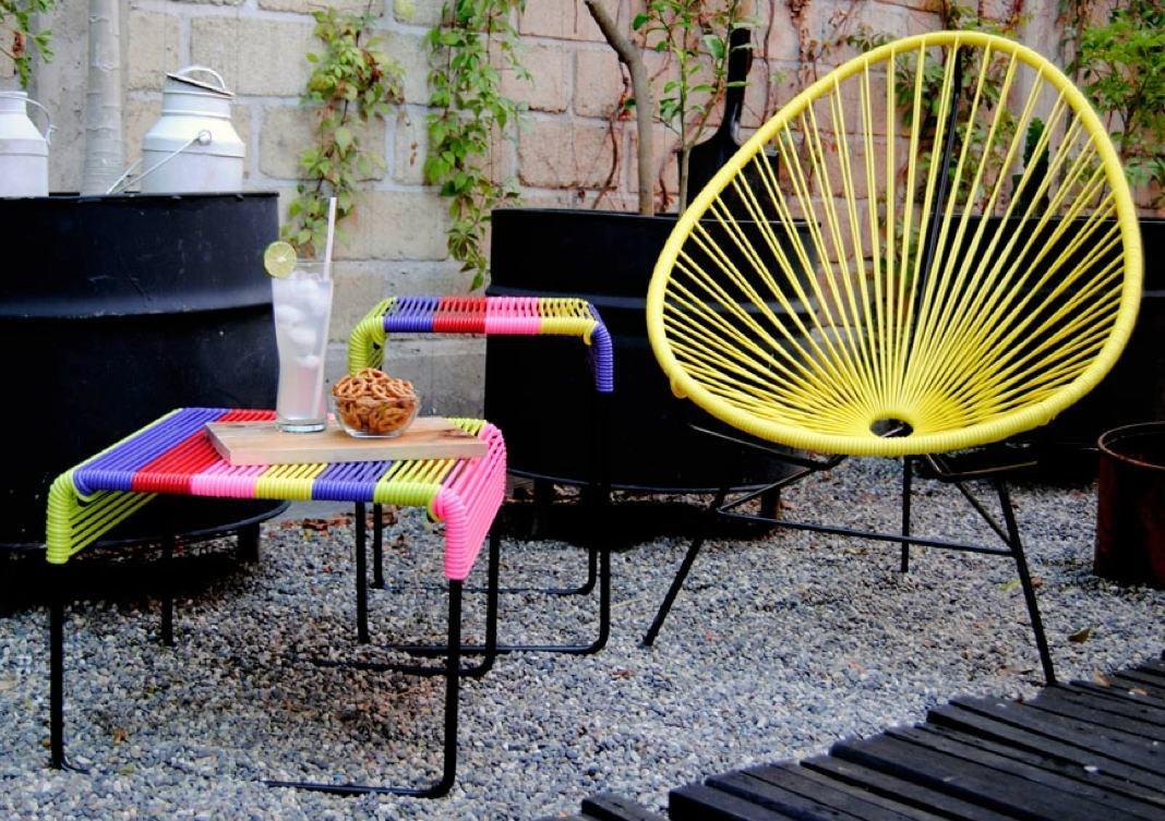 Ayutla footrest bench & Acapulco Cha