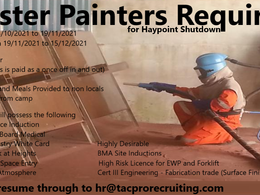 Blaster Painters Urgently Required