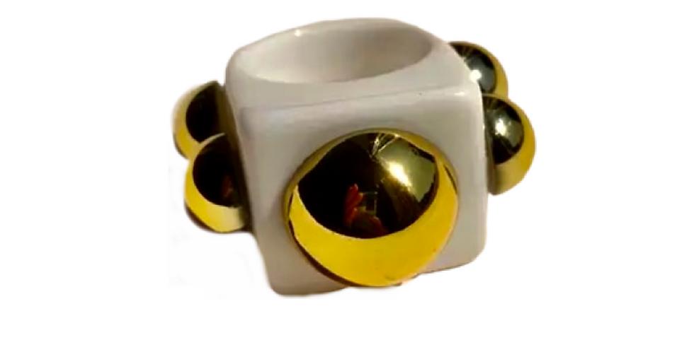 Handmade Resin Ring - White