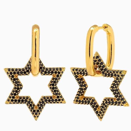 Navy Star Earrings