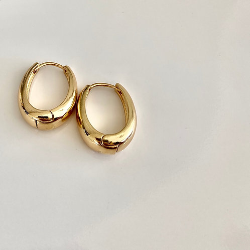 Chunky Drop Hoops - Gold