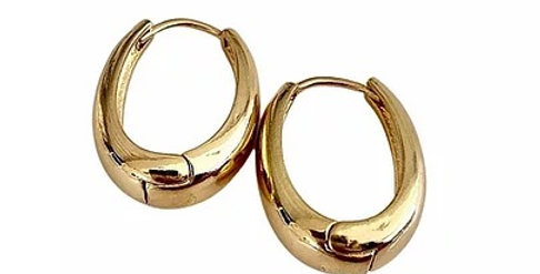 Chunky Drop Hoops - Gold