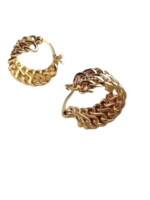 Multi Chain Hoops - Gold
