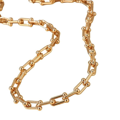 Chunky Geometric Necklace - Gold