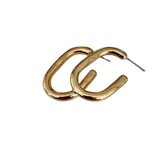 Chunky Geometric Hoops - Gold