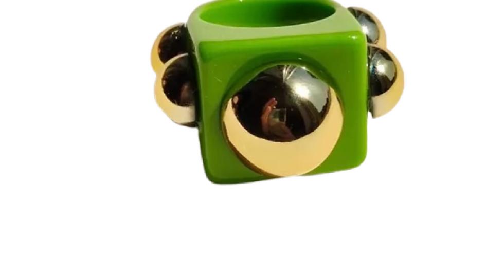 Handmade Resin Ring - Green