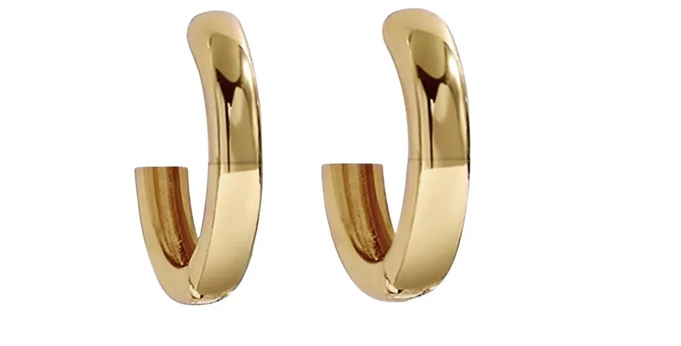 Simple Gold Huggie Hoops