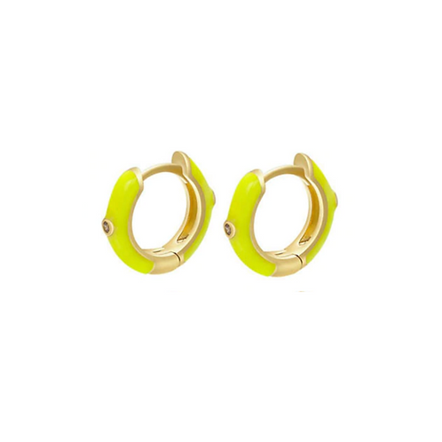 Yellow Huggie Hoops