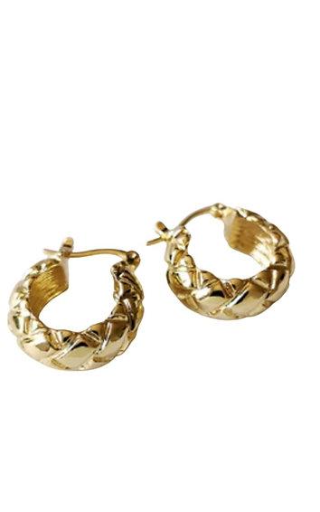 Chunky Rhombus Hoops - Gold