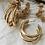 Thumbnail: Triple Hoop Earrings - Gold