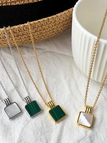 White & Green Malachite Necklaces