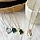 Thumbnail: Green Malachite Square Necklace - Silver
