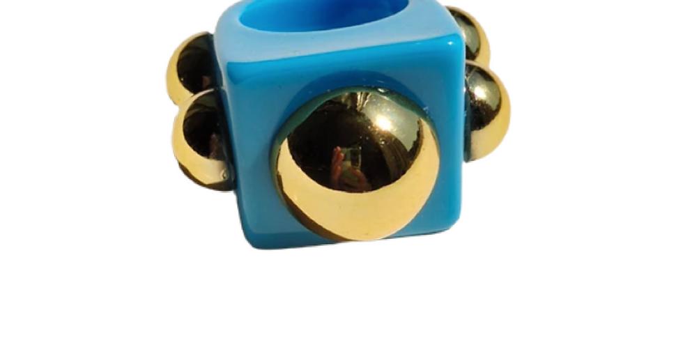 Handmade Resin Ring - Light Blue
