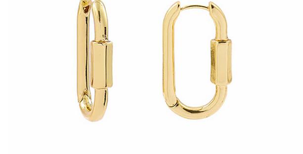 Simple Geometric Hoops - Gold