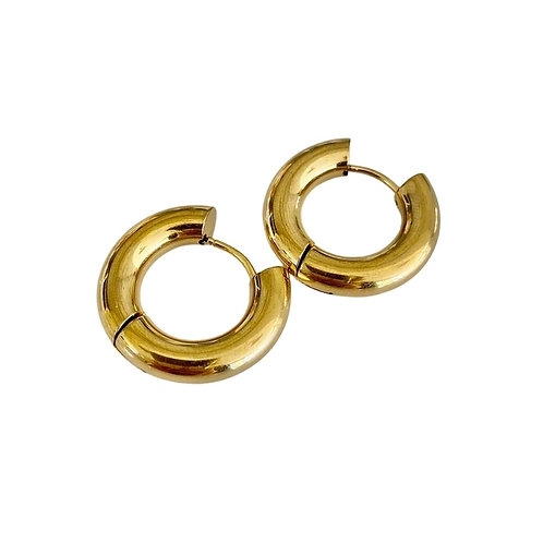 Chunky Circle Hoops - Gold