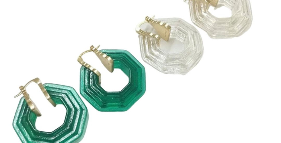 Hexagonal Resin Hoops