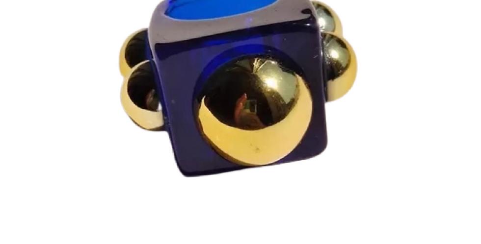 Handmade Resin Ring - Navy