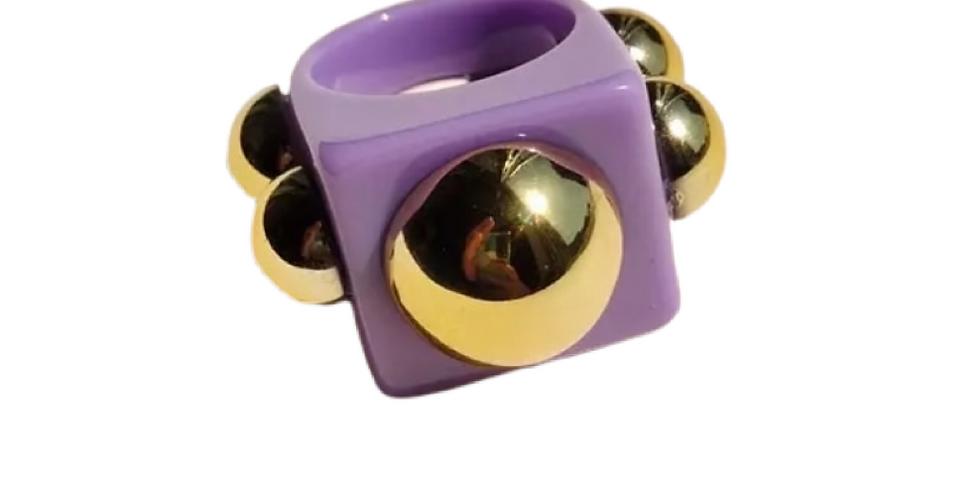 Handmade Resin Ring - Lilac