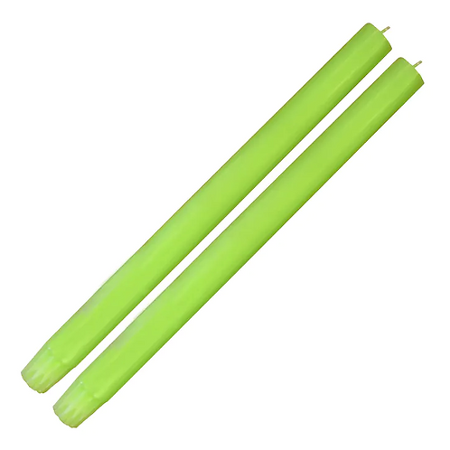 Pair of Dinner Candles - Fluro Green