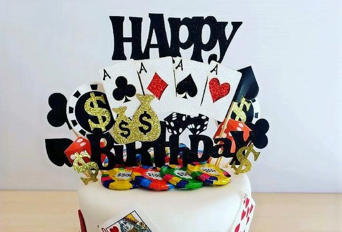 Custom Birthday Fondant Cake & Fondant Accents