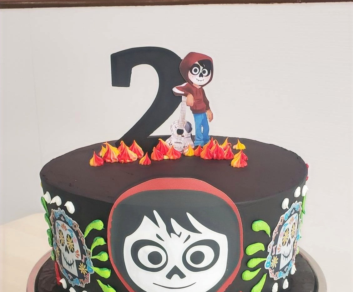 Custom Birthday Cake with edible images