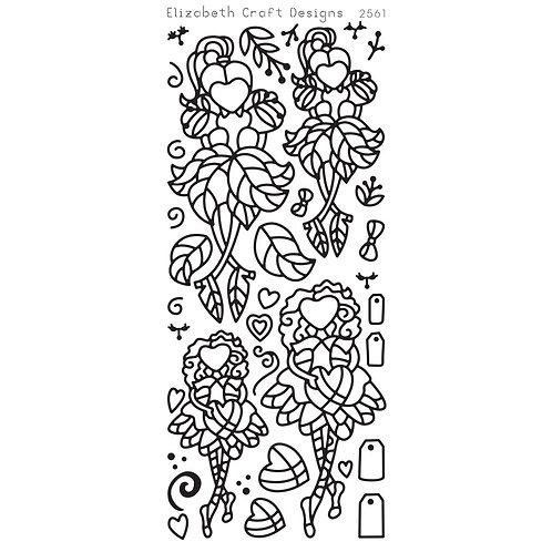 ECD Stickers Little Cuties 1, Black, 2561