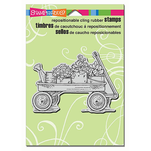 Stampendous: Garden Wagon Stamp