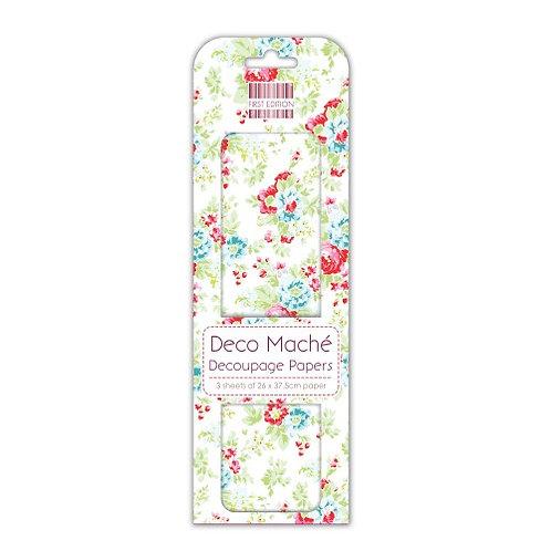 First Edition Deco Maché - Red & Blue Flowers FEDEC092