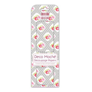 First Edition Deco Maché - Polka Rose FEDEC107