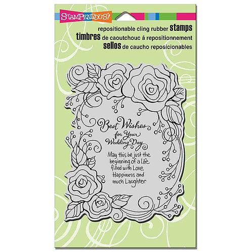 Stampendous : Rose Wedding Stamp
