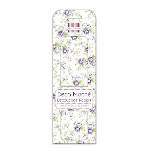First Edition Deco Maché - Lilac Roses FEDEC085