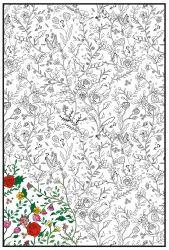 Joy of Coloring Full Poster - Enchanted Garden
