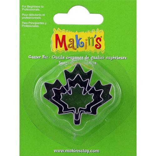 Makin's Clay Cutters 3/Pkg - Maple Leaf
