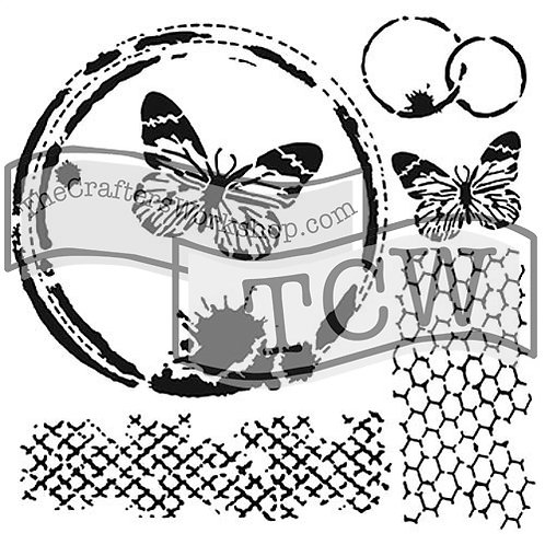 TCW 12X12 Butterfly Collage
