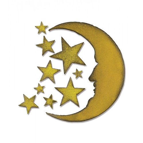Sizzix Bigz Die - Crescent Moon & Stars