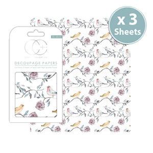 Decoupage Papers - Bird Tree Tops