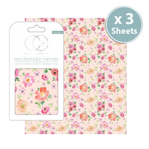 Decoupage Papers - Peach Bloom