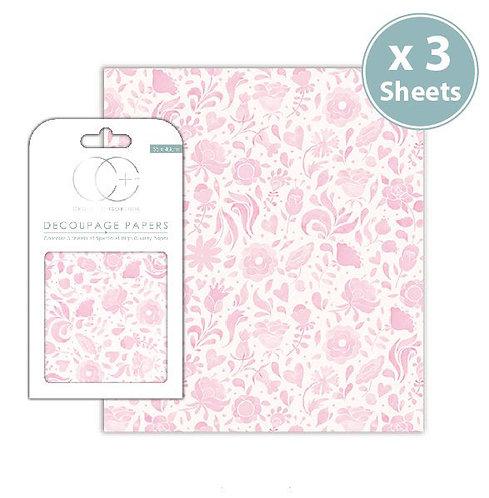 Decoupage Papers - Floral Grace