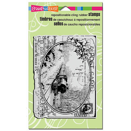 Stampendous : Train Postcard Background Stamp