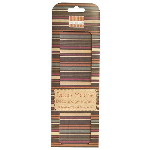First Edition Deco Maché - Multi Stripe