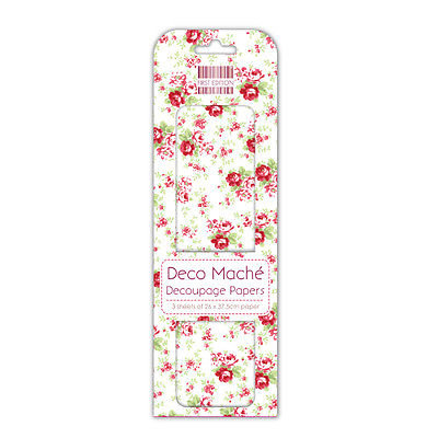 First Edition Deco Maché - Pink Roses FEDEC089