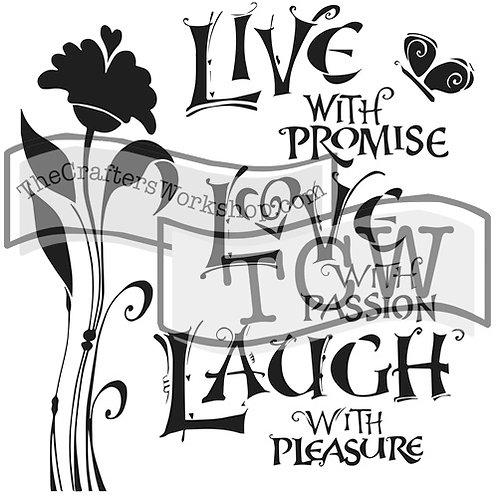 TCW 12X12 Live Love Laugh