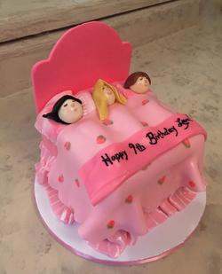 3-D carved Sleep over cake