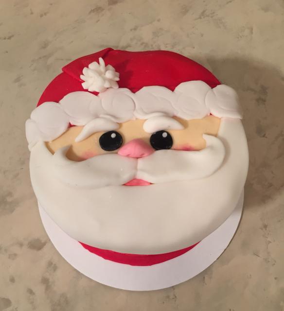 #santafacecake #santacake