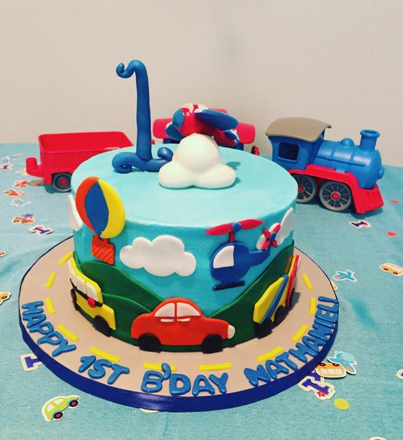 transportation cake, 1st Birthday