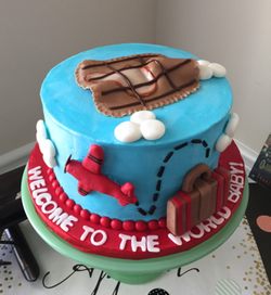 World Traveler Airplane Cake