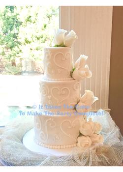 buttercreamicedweddingcake wedding